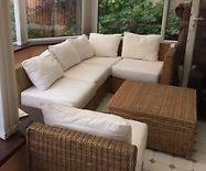Wicker 7 piece conservatory furniture set - great
