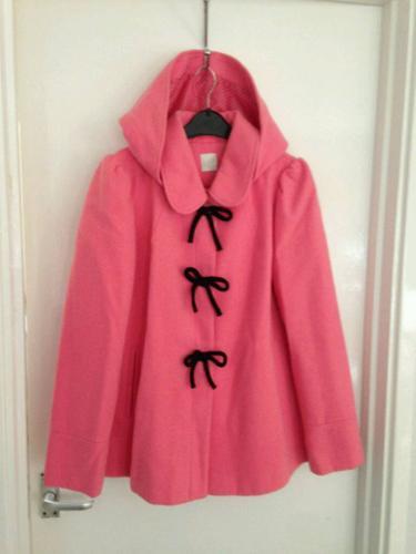Women's size 12 pink hoodied coat