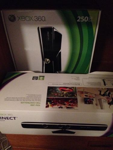 Xbox 360 250gb & kinect