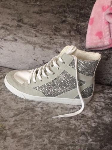 Zara glitter high tops size 6