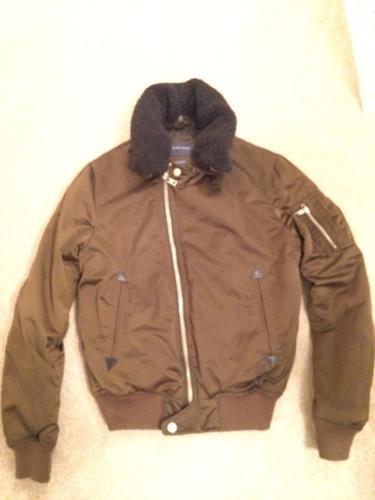 Zara Men's large bomber jacket brown (Used)