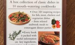 Set of 10 x complete Cookery books Unused and in lovely
