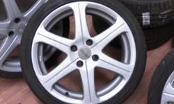 "17"" allessio alloys with 205 40 17 tyres 4 stud 4x108"