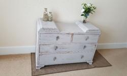 1930s Dressing table with 2 secret compartments, shabby