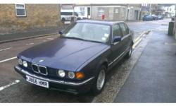 1991 BMW 730I SE AUTO, metallic blue with full leather