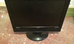 "Black 19"" UCM tv black with silver rim built in"