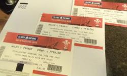 One ticket for 26 Feb at 8.05pm WAL v FRA match. Lower
