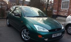 2001 Ford Focus Zetec Green Has a FULL 12 months MOT