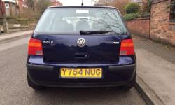 2001 Volkswagen Golf SE TDi 1.9 Diesel 5 Door. Manual