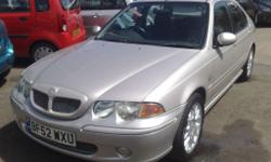 2002 52 Mg Zs+ 1.8,Silver With Half Leather Trim,86190