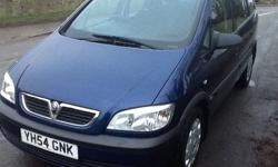 2004 54 VAUXHALL ZAFIRA. 1.6 i life.mot 28th sept.full