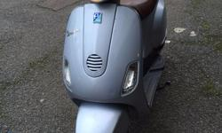 Hi I have a neat little automatic Vespa 50cc scooter in