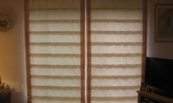 2 BEAUTIFUL ROMAN BLINDS IDEAL FOR PATIO WINDOW CUSTOM