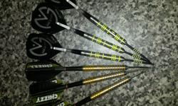 First a set of brand new 25g new van gerwin darts with