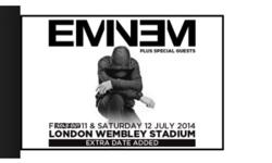 2 tickets for eminem on the Saturday at wembley stadium