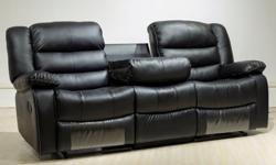 Soft and comfortable Bonded leather sofas with relining