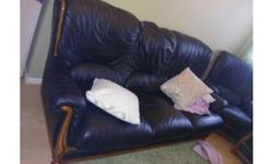 3 and 2 leather sofa very comfy need a quick sale due