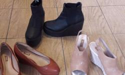 3 pair of shoes. 2 from next and the black boots from