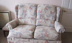 2 seater settee, 2 chairs, 1 footstool (with storage