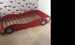 3ft Red ferrari car bed , in very good condition full