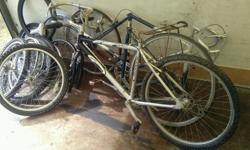 3x bikes plus spare wheels all spares or repairs 15