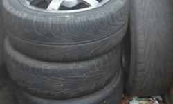 Hi I'm selling these 4 stud 4 alloys with tyres one