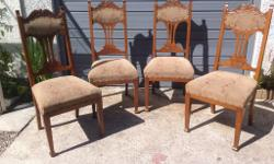 4 beautiful chairs. Heavy, solid and in great