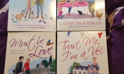 4 Cathy Woodman books all in mint condition, never