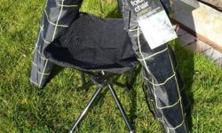 Four M folding chairs, 3 with carry bags. Suitable for