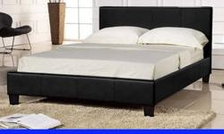 "Brand NEW Factory Boxed Double 4FT6"" Leather Bed Frame"