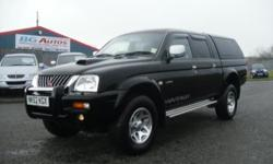 52 MITSUBISHI L200 2.5TD D/CAB WARRIOR PICKUP BLACK NO