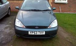 53 PLATE FORD FOCUS, 5 DOOR, TAXED TILL APRIL, 12MONTHS