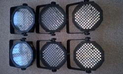Good condition, full working 6 LCD stage/DJ lights for