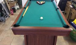 Well used but perfectly usable, solid, 6ft Pool Table.