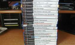 75 PLAYSTATION 2 GAMES - GOOD SELECTION £1 EACH -