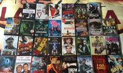 30 DVD titles @ £2 each. In good condition, selling