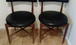 Two Oak chairs, needs a bit of Tlc , just normal wear &