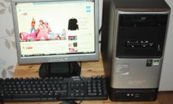 Acer Aspire Desktop Computer complete with monitor,