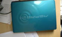 "Acer aspire one 10.1"" netbook. Installed windows 7"