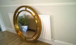 Achica Gold effect mirror £200.00 when new. Diameter