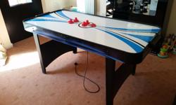 Hi. I am selling this air hockey table which is in good
