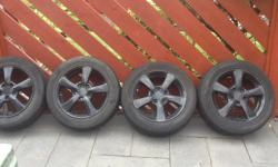 5 stud alloy wheels where on my Honda Civic one has