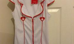 Naughty Nurse Outfit. Size 12. Includes dress, hat and