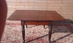 Mahogany pembroke drop leaf table, very good condition.