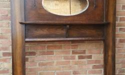 Ono. 20th century oak fire surround, In good condition