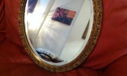 Beautiful Antique/ vintage gold oval Mirror (3) in