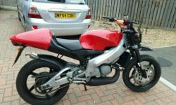 Aprilia rs125 2002 Solo seat conversion Renthal bars