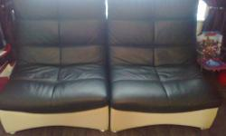 as new designer real leather 6 big leather chairs size