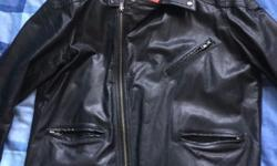 Asos mens leather jacket Great condition worm only