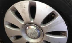 AUDI A3 ALLOYS, SET OF 4 WITH EXCELLENT TYRES, VERY